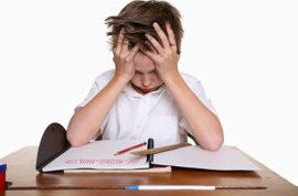 trẻ em bị stress